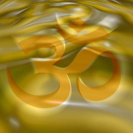 AUM symbol in the color of the 3rd chakra