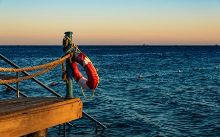Holiday Hurghada with sea views at sunset 免版税图像