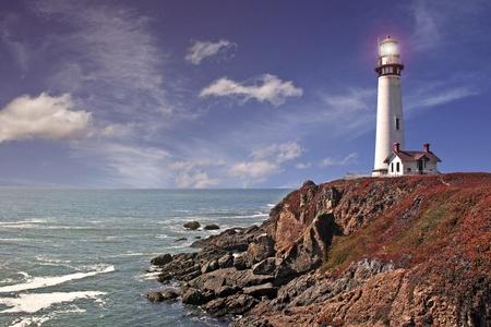 pigeon point lighthouse - pacific coast / california Stock Photo - 11243389