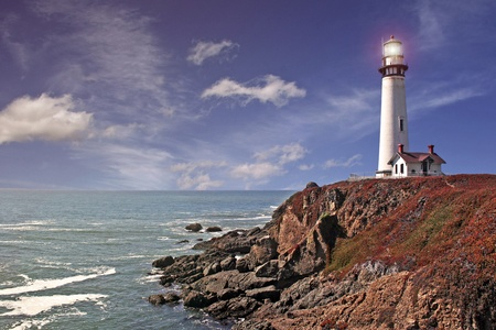pigeon point lighthouse - pacific coast / california  Stock Photo