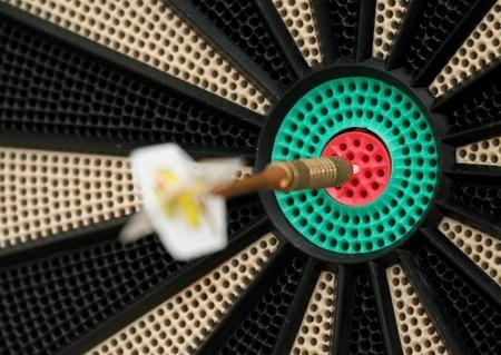 dart board: dart Stock Photo