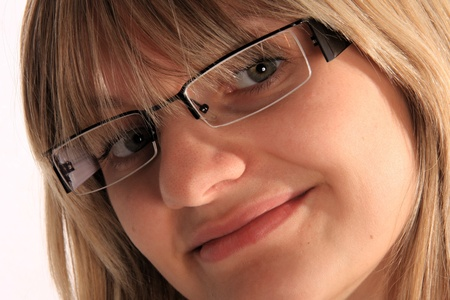 young girl with eyeglasses photo