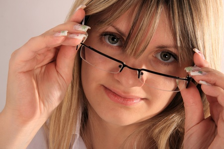 young girl with eyeglasses Stock Photo - 11718679