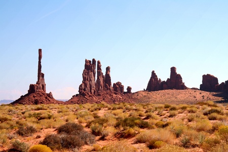 tranquil scene: Monument Valley Stock Photo