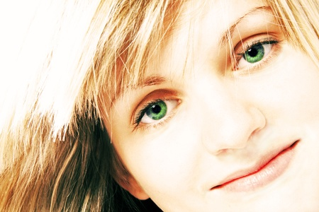 eye sight: portrait of a young girl Stock Photo