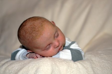 innocent girl: sleeping baby