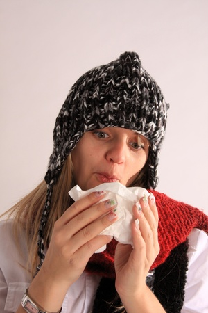 sniffles: young girl with a cold