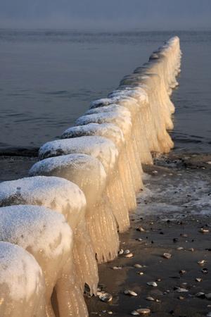groin at the Baltic Sea photo