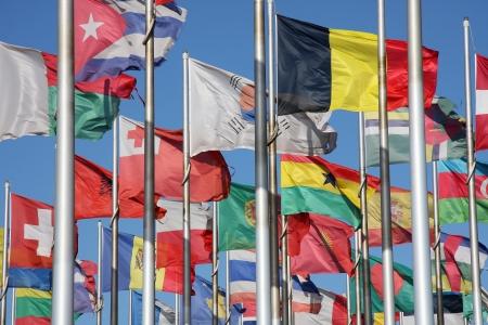 banderas del mundo: banderas del mundo Foto de archivo