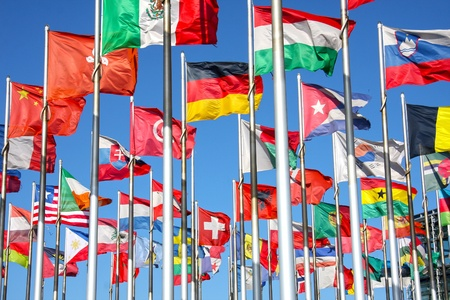 united nations: flags of the world