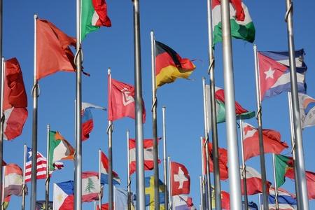naciones unidas: banderas del mundo Foto de archivo