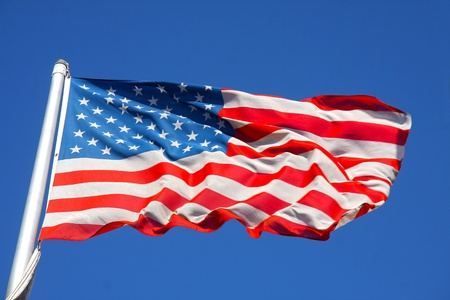 united states of america flag Stock Photo