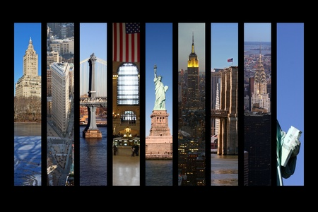 new york city times square: New York City Collage Stock Photo