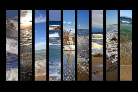 water collage photo