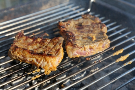 staycation: steak on the grill