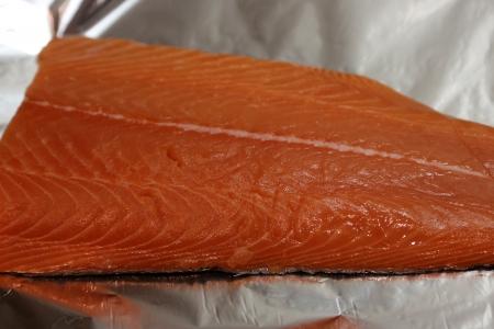 rosmarin: salmon filet Stock Photo