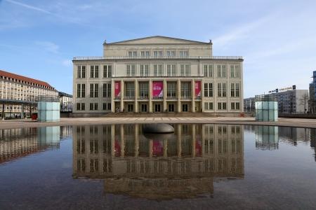 saxony: Augustusplatz Leipzig, Saxony  Editorial