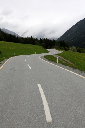 mountain pass road, Slkpass, Austria  photo