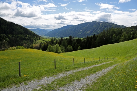 barrack: Beautiful landscape in Austrian Alps