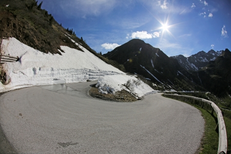switchback: switchback, mountain pass road, Sölkpass, Austria