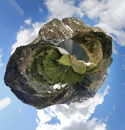 barrack: Austrian Alps panorama, 360 degree view