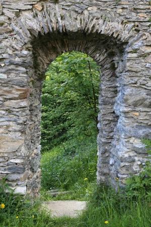 old castle door  photo
