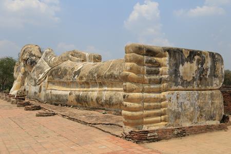 recline: Reclining Buddha Stock Photo