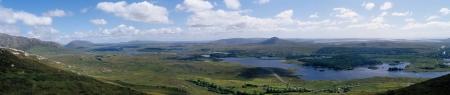 bens: Lush landscape in western ireland, connemara, 12 bens country Stock Photo