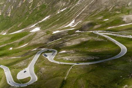 hochalpenstrasse: Serpentines on the Grossglockner alpine road  Hochalpenstrasse Stock Photo