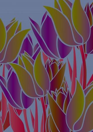 crimson colour: graphic patterns