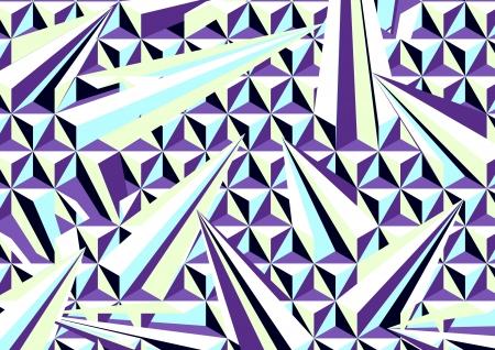 quartz crystal: graphic patterns