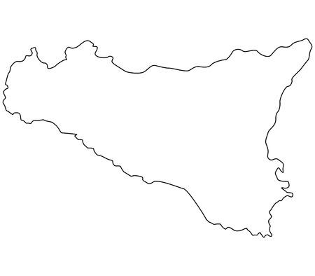 sicily map Фото со стока - 47486501