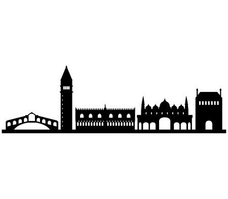 Venise horizon sur un fond blanc Banque d'images - 48546723
