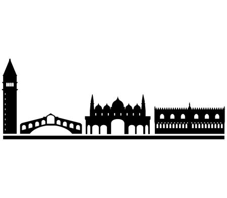 Venise horizon sur un fond blanc Banque d'images - 48546718