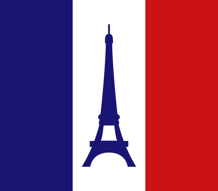 tower: Eiffel Tower on a white background