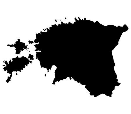 estonia: Estonia map on a white background Stock Photo