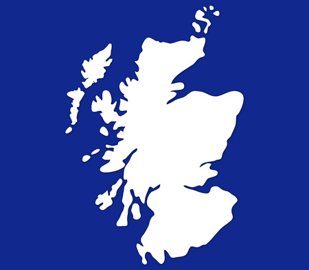 scots: Scotland map on a white background