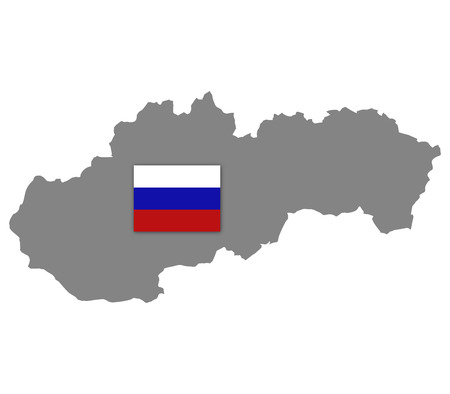echo: Slovakia map on a white background Stock Photo