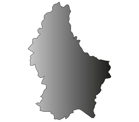 mercator: Luxembourg map on a white background