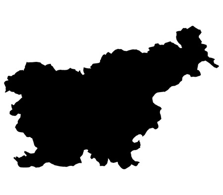 slovenia: map slovenia on white background Stock Photo