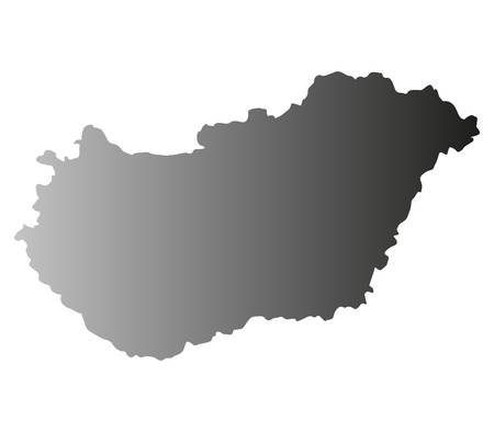 hungary: Hungary map on a white background