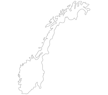 Norway map on a white background