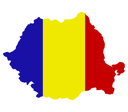 objects with clipping paths: Romania map on a white background