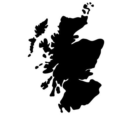 Scotland map on a white background