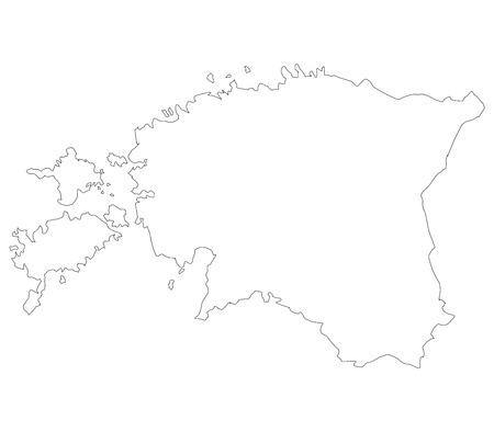 mercator: Estonia map on a white background Stock Photo