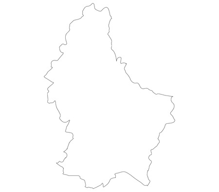 luxembourg: Luxembourg map on a white background