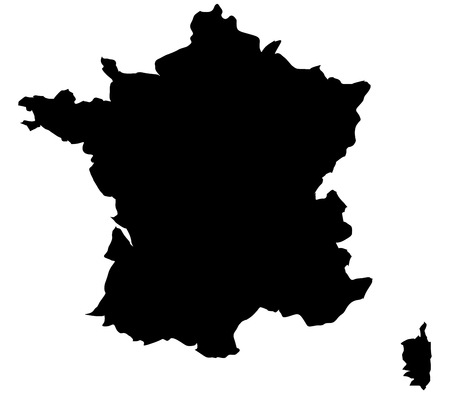 territories: France map on a white background Stock Photo