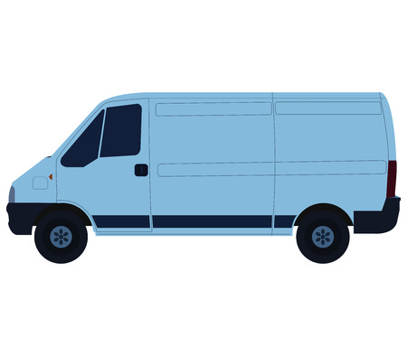 freighter: van on white background
