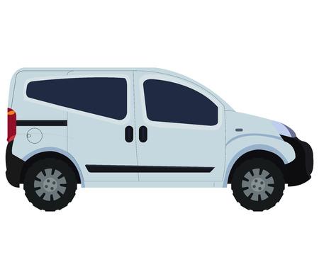 van on white background