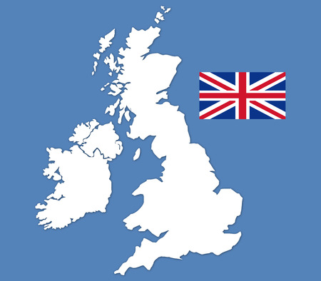 commonwealth: britain map on a white background